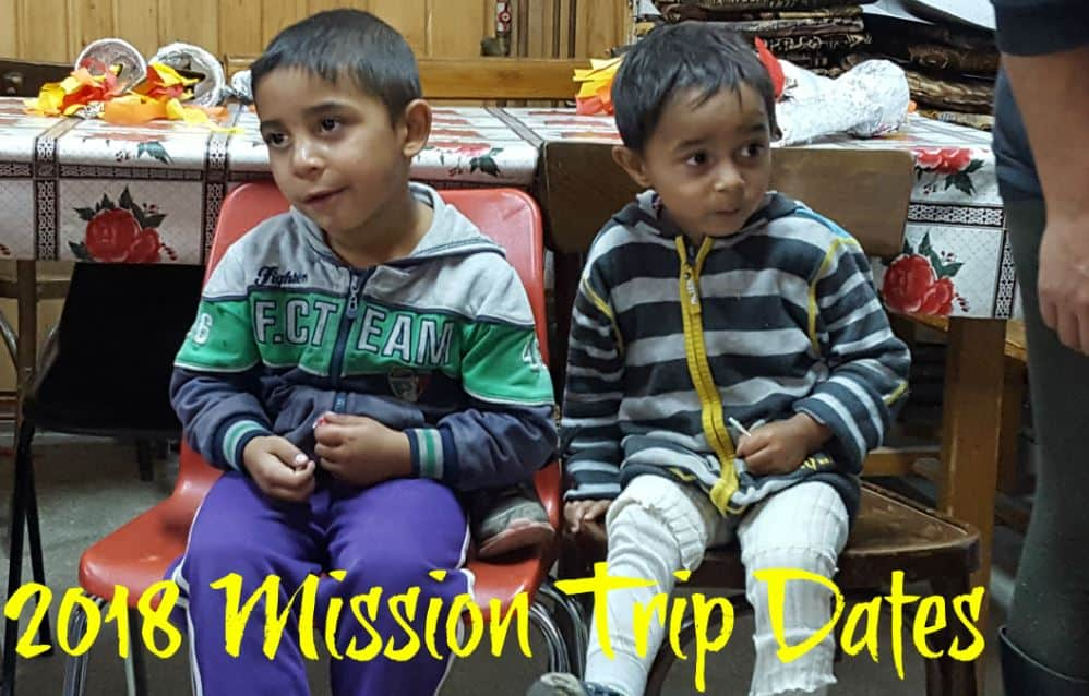 2018 Mission Trip Dates ANNOUNCED!